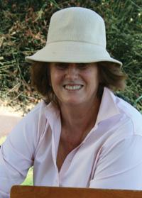Jenny Phillips in the Getty Garden