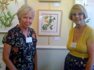 Joan Keesey & Sue Kuuskmae with Hibiscus Kokio