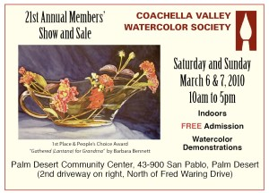 Coachella Valley Watercolor Show Invite