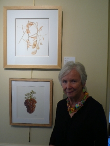 Joan Keesey with Buckeye Painting at Filoli
