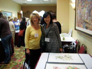 Akiko Enokido and Rose Pellicano at the ASBA Portfolio Presentation.