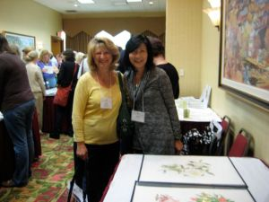 Akiko Enokido and Rose Pellicano at the ASBA Portfolio Presentation.
