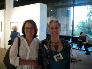 Kathy Dunham and Clara Josephs at the Opening Reception
