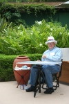 Joan's husband, John Keesey, joined us to demonstrate plein aire painting in watercolor, © DB Shaw 2010