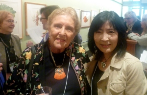 "Dr. Shirley Shirwood and Akiko Enokdo at the NYBG and ASBA ""Green Currency"" opening."