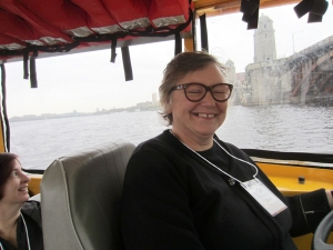 Elaine Searle driving the Duck.
