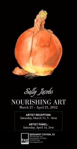 "Sally Jacobs, Invitation to ""Nourishing Art"" at the TAG Gallery"