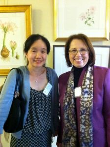 Mitsuko Schultz (L) and Clara Josephs (R) at the Filoli Artist Reception, image © 2012, Jerry Josephs