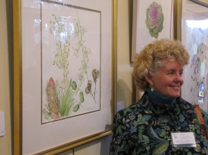 Patty Van Osterhoudt with her painting, image © 2012