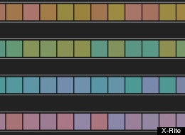 Color test chart by X-Rite
