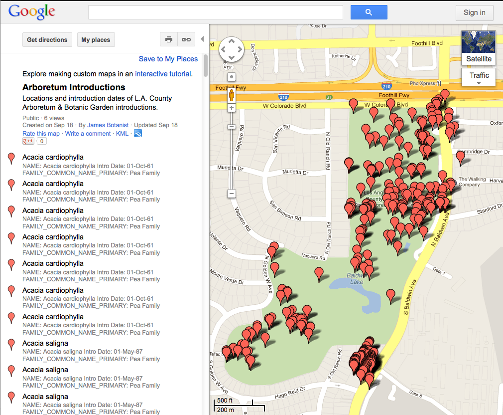 Feature Articles BAGSC News Page - Los angeles arboretum map