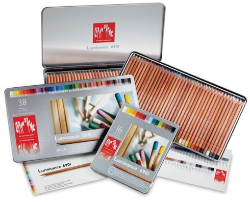 Caran d'Ache Luminance 6901 Colored Pencils, courtesy of Dick Blick's website