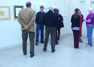 A few attendees at the Artists' Reception, photo by John Keesey.