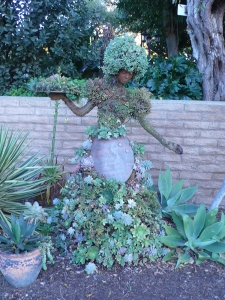 A statue in the garden, San Diego Botanic Gardens, photo by John Keesey.