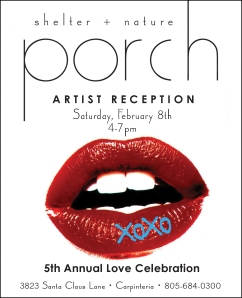 Artist Reception invitation from Porch.