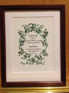 Tania Marien's James White Award