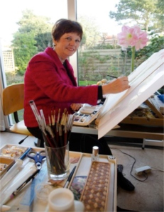Anita Walsmit Sachs in her studio.