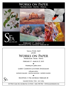 "Cristina Baltyian will be showing work in ""Works on Paper,"" at SAGA Fine Art."