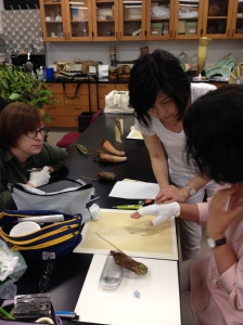 Meiko demonstrating her techniques.