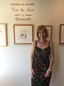"Patricia Mark at the opening reception ""For the Love of Botanicals."" Photo credit: Tania Marien, © 2016."