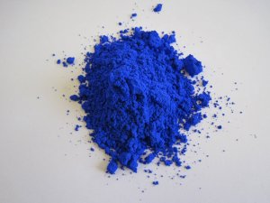 Blue pigment discovered at Professor Subramanian's lab at Oregon Stste University. Photo from Oregon State University.