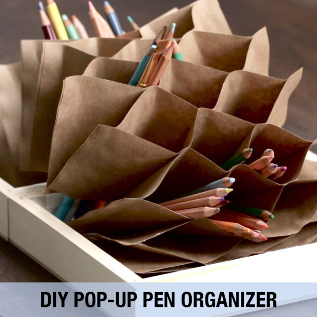 How to Make Paper Pen Stand/Holder | Hexagonal Paper Pen Pencil ... | 625x625
