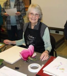 Nina Antze, Martha Kemp, Lucy Martin and Vi Strain, will demonstrate botanical art in a variety of media starting at 1:00 pm on Saturday, November 5, 2016. The demonstrations are free.