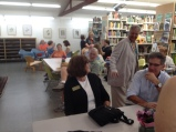 BAGSC Members and their guests gathered in the Arboretum Library for the artists' walk-through, led by Matt Ritter.