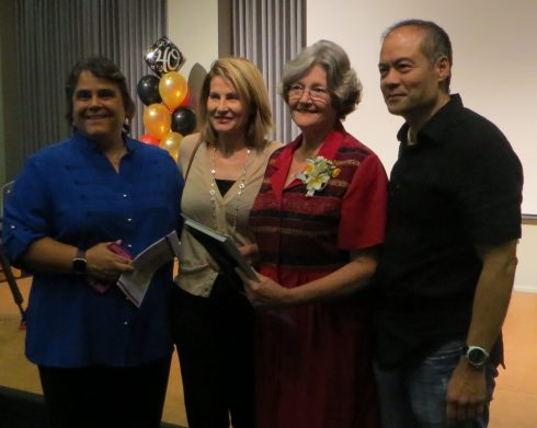 City of Torrance Arts Commission with Estelle DeRidder (second from right). Photo by Leslie Walker,