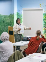 Tracy Drake, Park Services Manager, Community Services Department, City of Torrance gave a presentation and introduced Estelle at the BAGSC Quarterly Meeting at Madrona Marsh Nature Center. © 2018, Lance Hill. Editorial or promotional use permitted for electronic or printed media by the Botanical Artists Guild of Southern California and the Friends of Madrona Marsh. Please provide photo credit to Lance Hill.