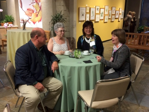 L to R: Jim Folsom with BAGSC members Jude Wiesenfeld, Teri Kuwahara, Beth Stone.