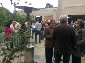 The open house/reception flowed from the demonstrations in the Ahmanson through the courtyard into the Brody Botanical Center.