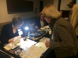 BAGSC member Deborah Shaw demonstrating botanical art.