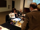 BAGSC members (L to R) Veronica Raymond and Suz Landay, demonstrating botanical art.