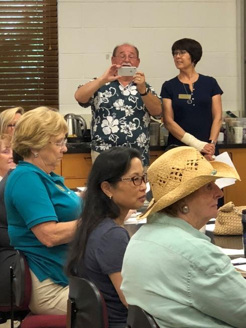 Jim Folsom documenting the meeting.