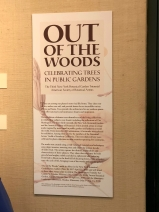 """Out of the Woods"" didactic inside the exhibition."