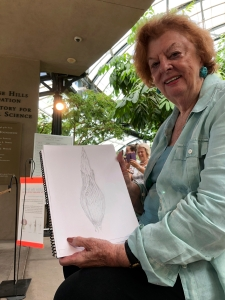 BAGSC member Tania Norris with her Li'l Stinky sketch.