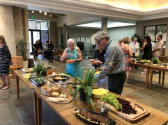 Jim Folsom, cooked up an amazing reception spread. Jim, Robert Hori, Danielle Rudeen, and Melanie Thorpe staged an awesome reception.